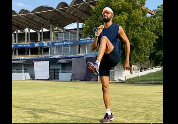 kunal pandya started outdoor training after 3 months