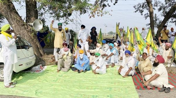farmers union  dharna