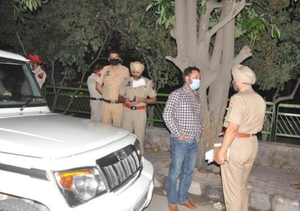 zirakpur  firing  one injured