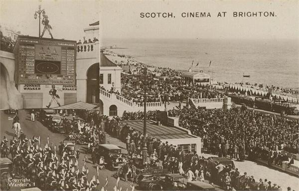 when the crowd gathered for the cricket scoreboard on the beach