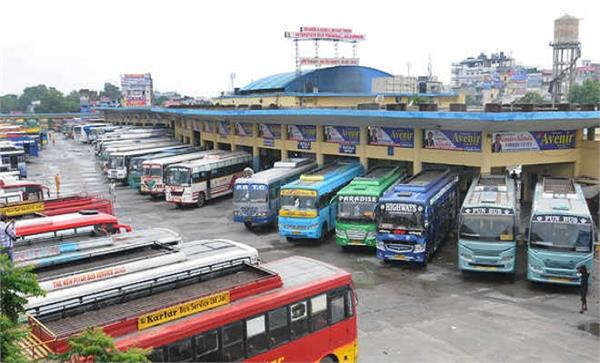 relief government buses  private buses