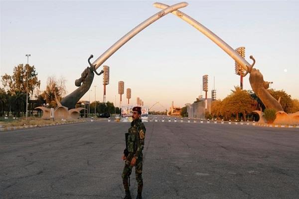 three rockets military base iraq