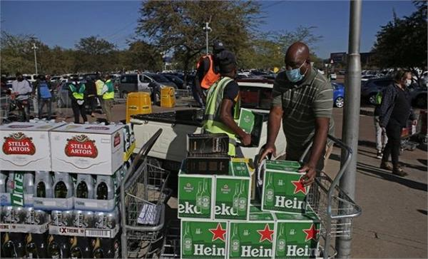 curfew south africa  ban on alcohol