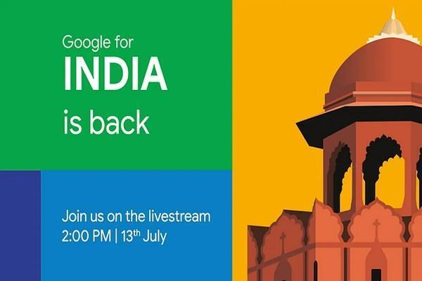 google for india 2020 virtual event set for today