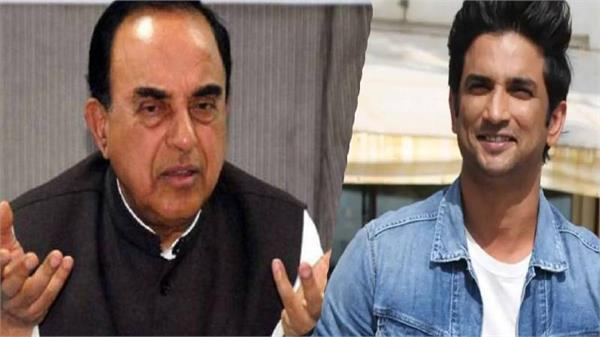subramanian swamy demands cbi investigation in sushant death