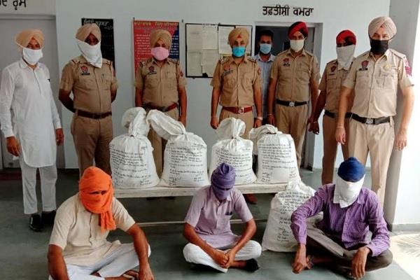 bhadson police arrested 3 persons with drugs