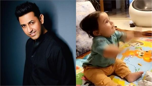 gippy grewal shared a video of his son gurbaz grewal