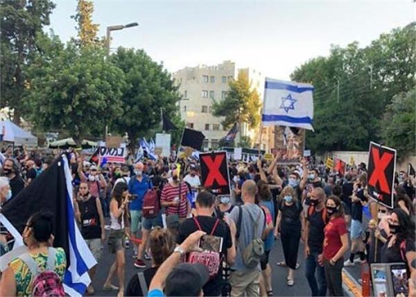 israel  benjamin netanyahu  protesters  28 people  arrested
