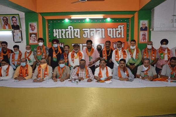 bharatiya janata party jalandhar  urban  announces district officers