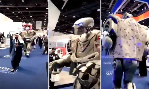 the truth of the viral video of the robot bodyguard of the bahrain king