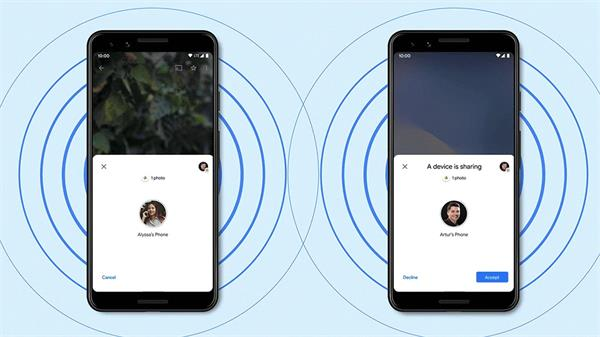 this special feature is being offered in android smartphones like apple airdrop
