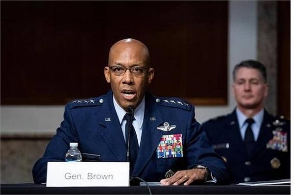 trump air force black man