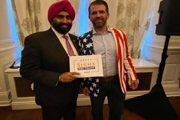 sikhs for america chairman jassi met  trump family