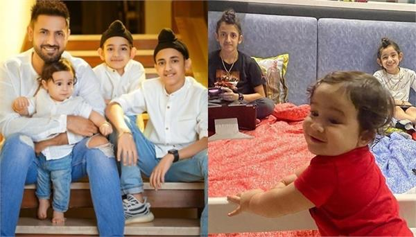gippy grewal shared with his sons on instagram account