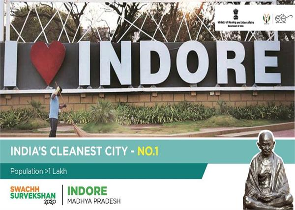 swachh survekshan 2020 indore declared the cleanest city