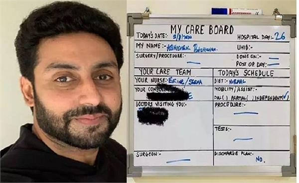 abhishek has no discharge plans as he battles covid 19 at the hospital