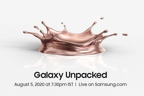 samsung galaxy note 20 series launch today in galaxy unpacked 2020