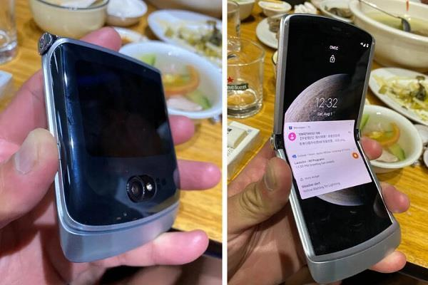 upcoming new moto razr 2020 foldable phone  leaked pictures