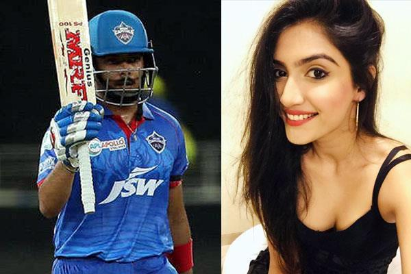 prachi singh once again sparks dating rumours with prithvi shaw