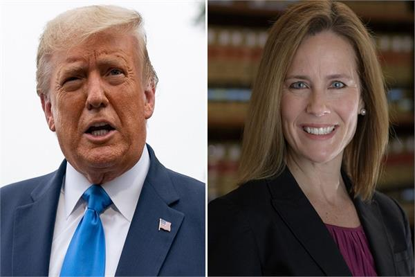 donald trump names amy barrett new supreme court judge