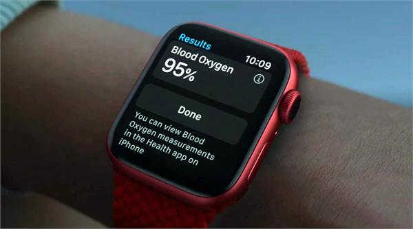 apple has launched a watch that shows the level of oxygen in the blood