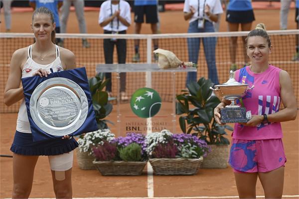 halep wins italian open title