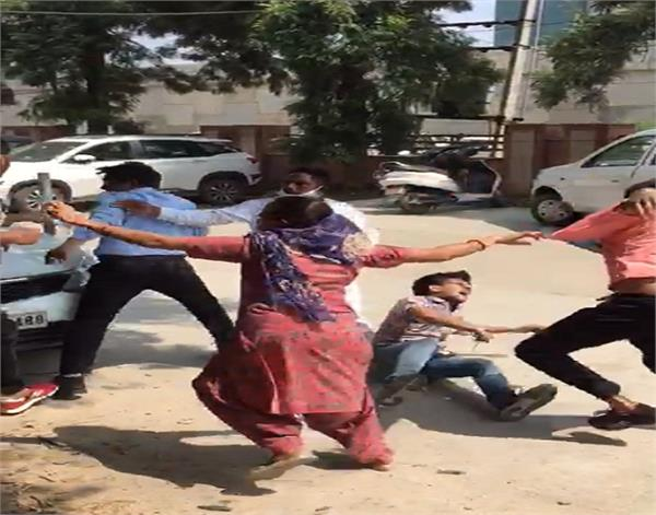 moga husband and wife assault video viral