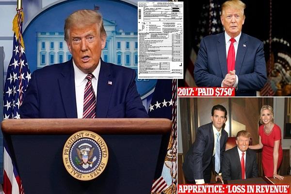 donald trump  income tax