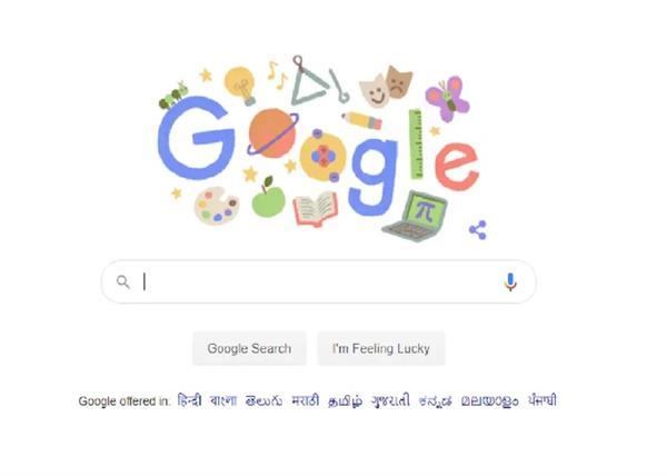 google made doodle on teachers day