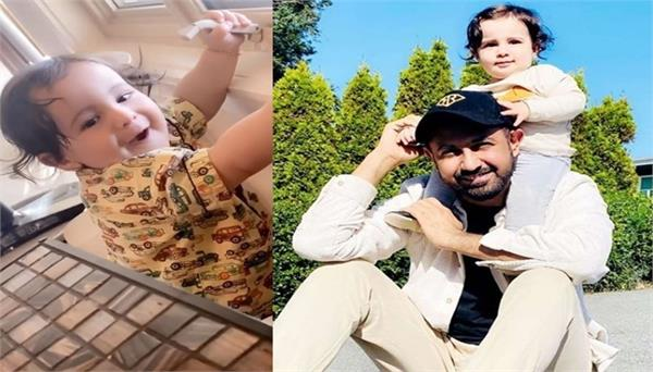 gippy grewal son gurbaaz smiling video viral on social media