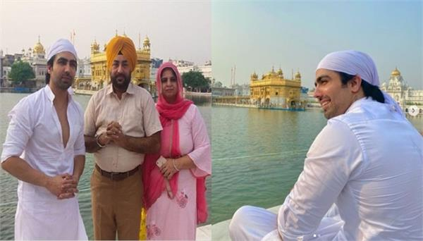 punjabi singer hardy sandhu at golden temple