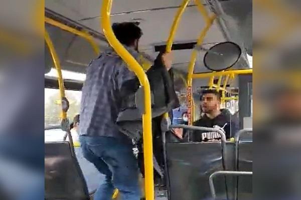 fight breaks bus in surrey refusal of mask
