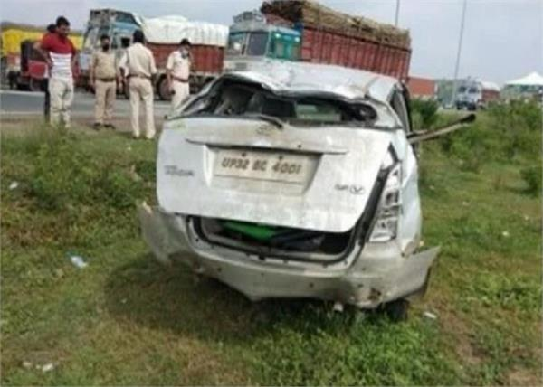 uttar pradesh state police car accident gangster death