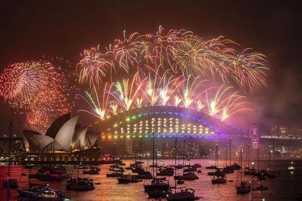 australia  new year  fireworks