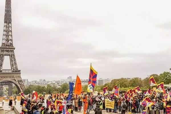 france  anti china protests