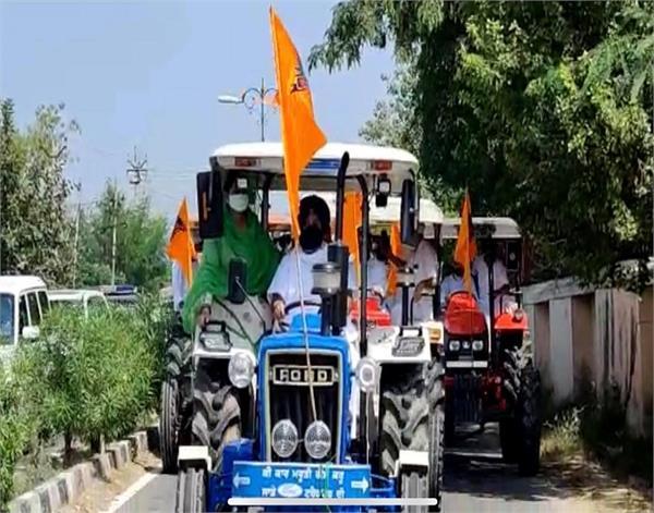 sri muktsar sahib sukhbir singh badal tractor dharna