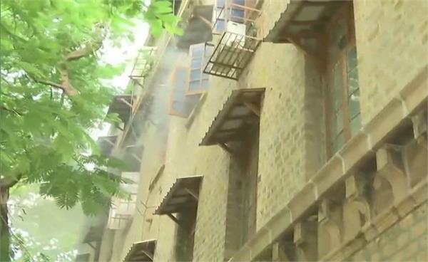 mumbai fire breaks out in exchange building at ballard estate