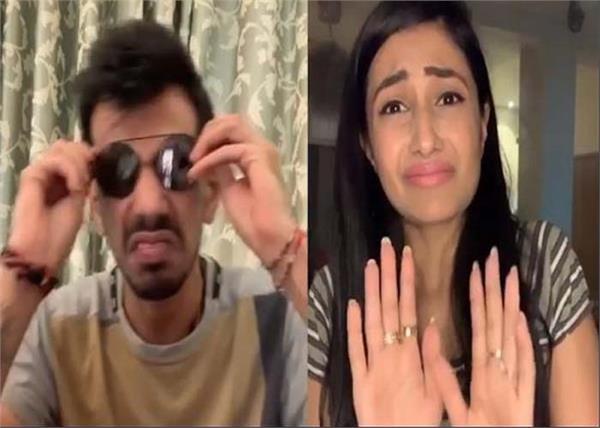 cricketer yuvendra chahal fianc dhanashree verma instagram video