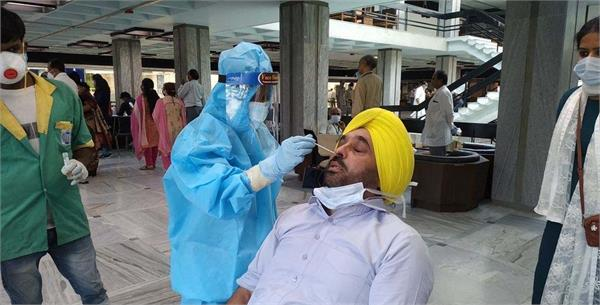 aam aadmi party bhagwant maan coronavirus test report nagative