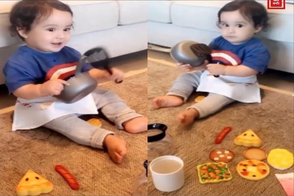 gippy grewal son gurbaaz grewal cute video