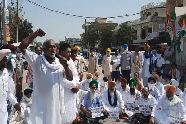 violent protest by congressmen against agricultural ordinances