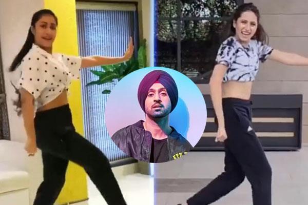 dhanashree danced with actress sargun on diljit s new song