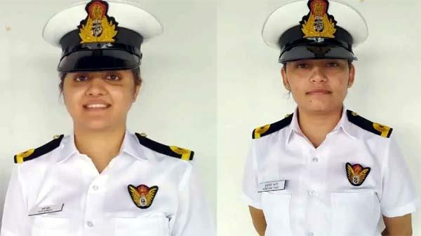 two women officers join crew of indian navy warships