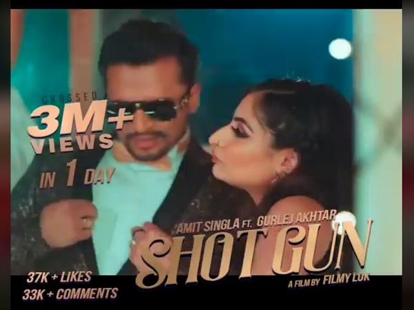 amit singla new song   shot gun   3 millon views