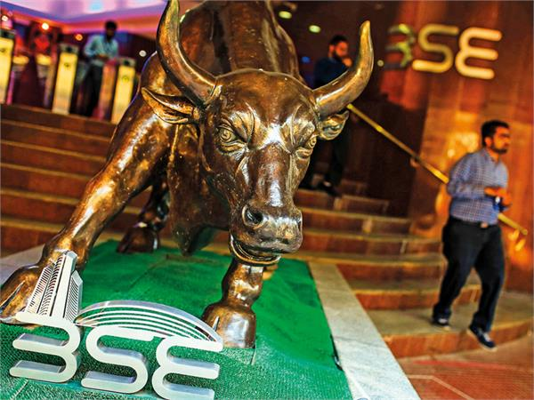sm opened at a record high the sensex rose 201 points and the nifty 18 000