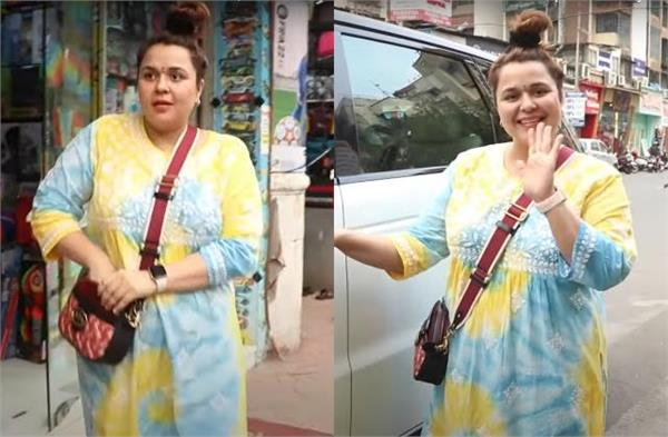 kapil sharma  s wife  spotted for the first time in a public place