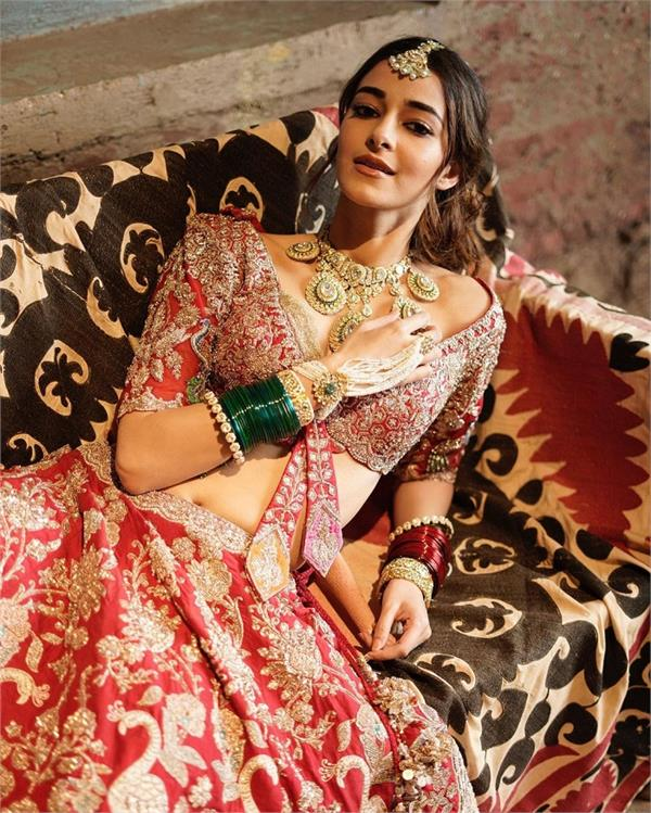 chunky pandey  s daughter ananya conducts bridal photoshoot  photos