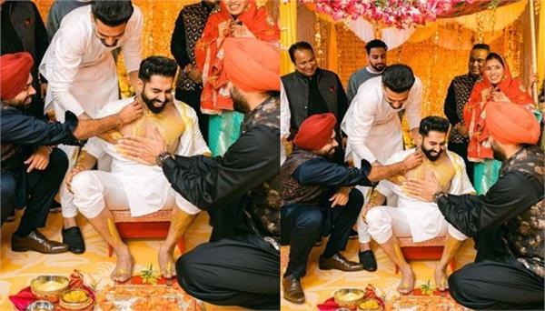 punjabi singer parmish verma haldi ceremony