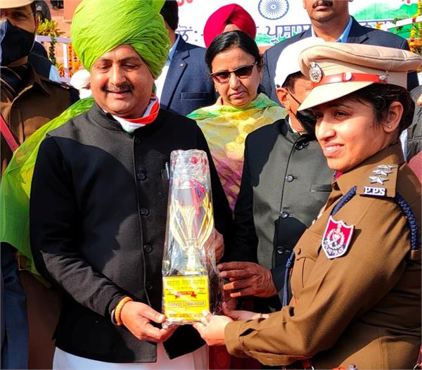 budhlada  s first female dsp honored for taking part in the parade