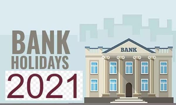 banks will be closed for 89 days in 2021